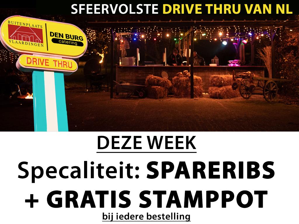 Deze week GRATIS STAMPPOT* in de sfeervolste Drive Thru van Vlaardingen!