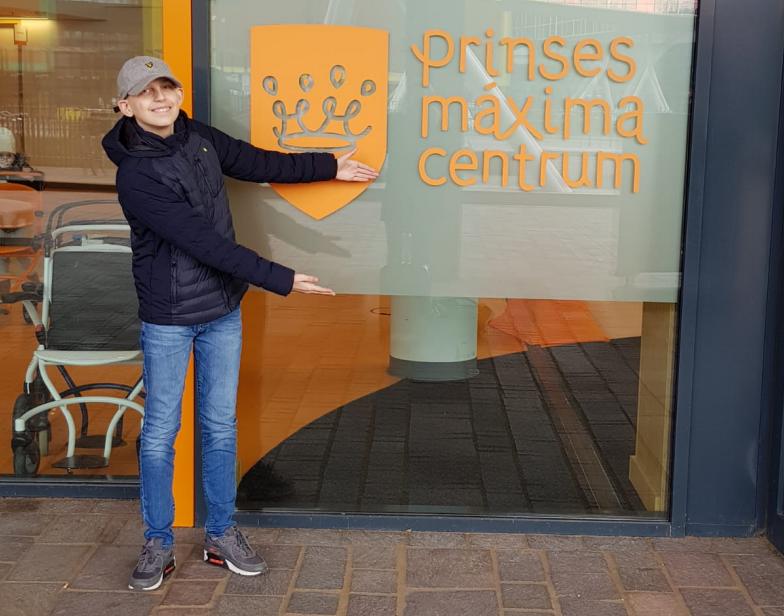 Senna Ravenstijn in actie voor Prinses Maxima Centrum