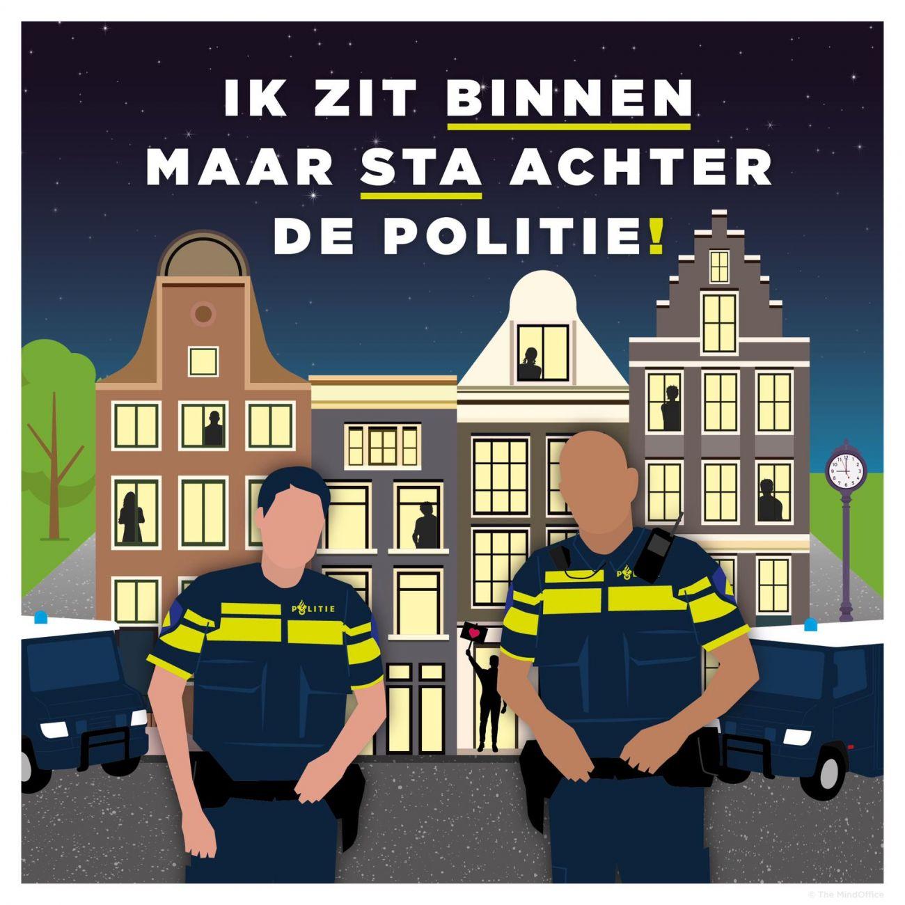 Morele steun voor de politie van weldenkend Nederland