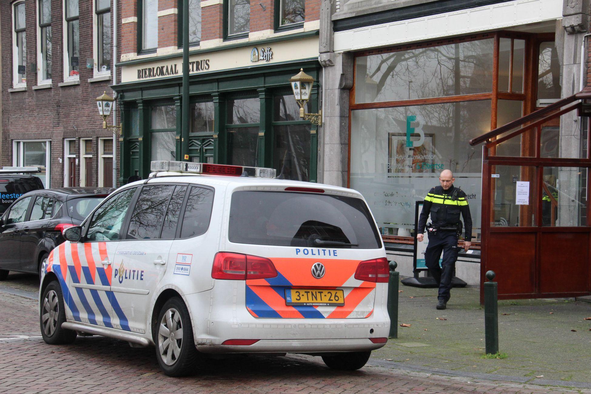 Politie in actie na overvalmelding Westhavenkade