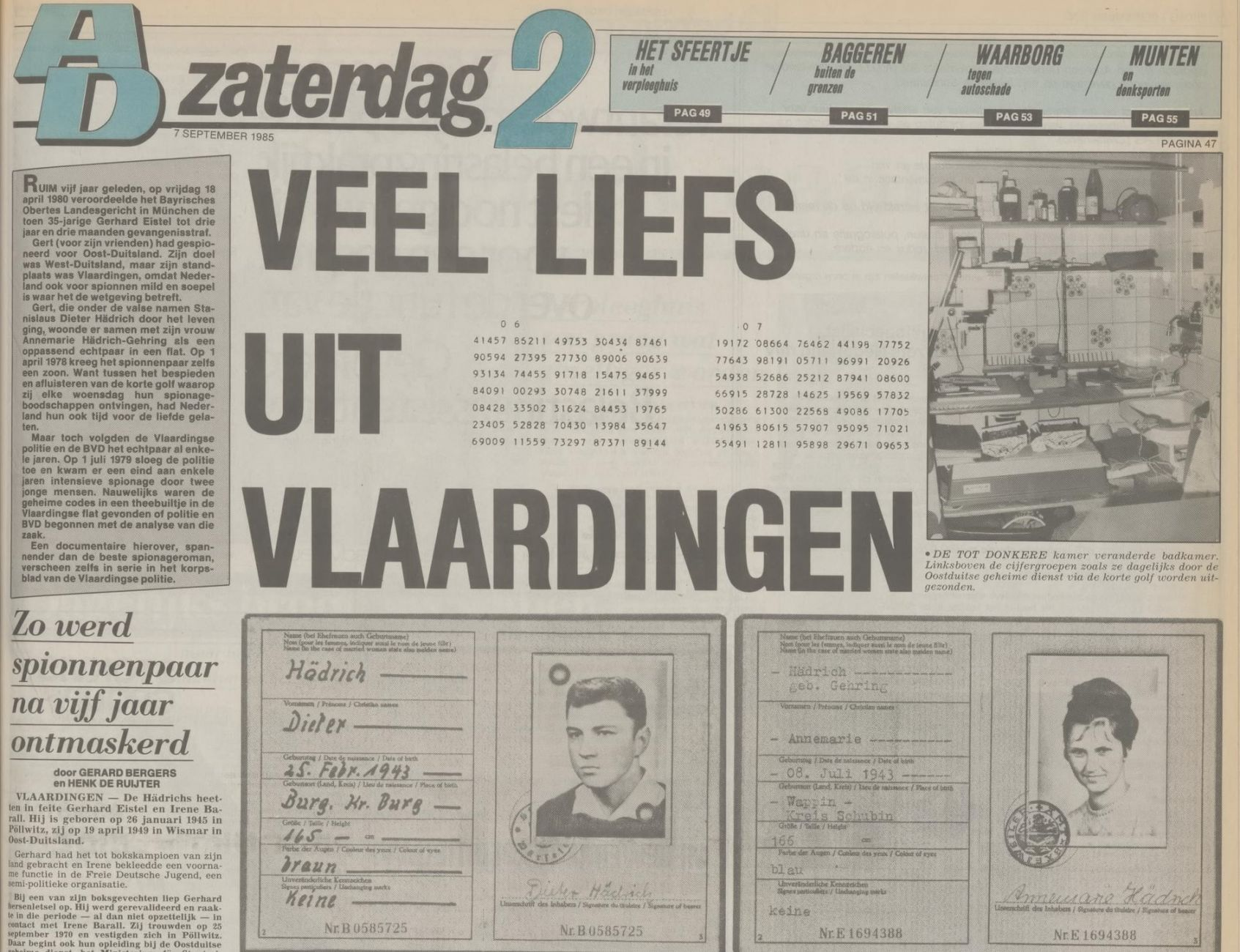 Oost-Duitse spionnen in Vlaardingen