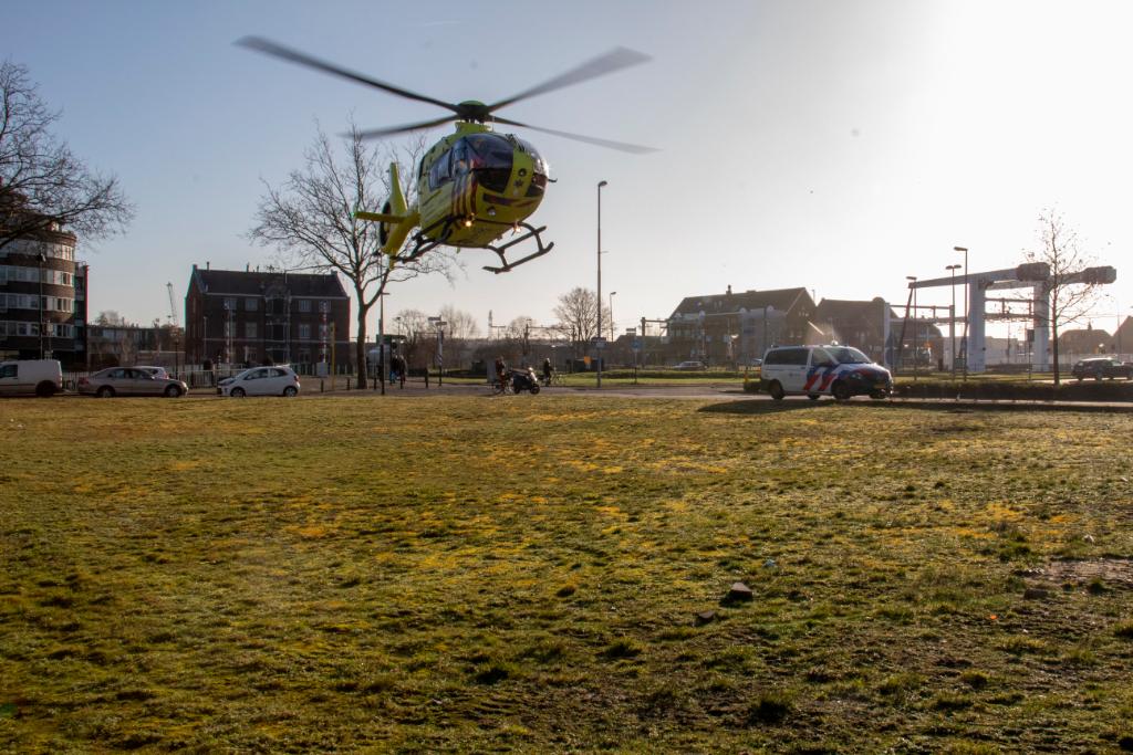 Traumaheli naar Vlaardingen voor medische noodsituatie