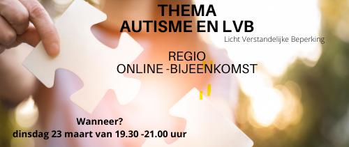 Online mantelzorgbijeenkomst rond thema autisme en LVB