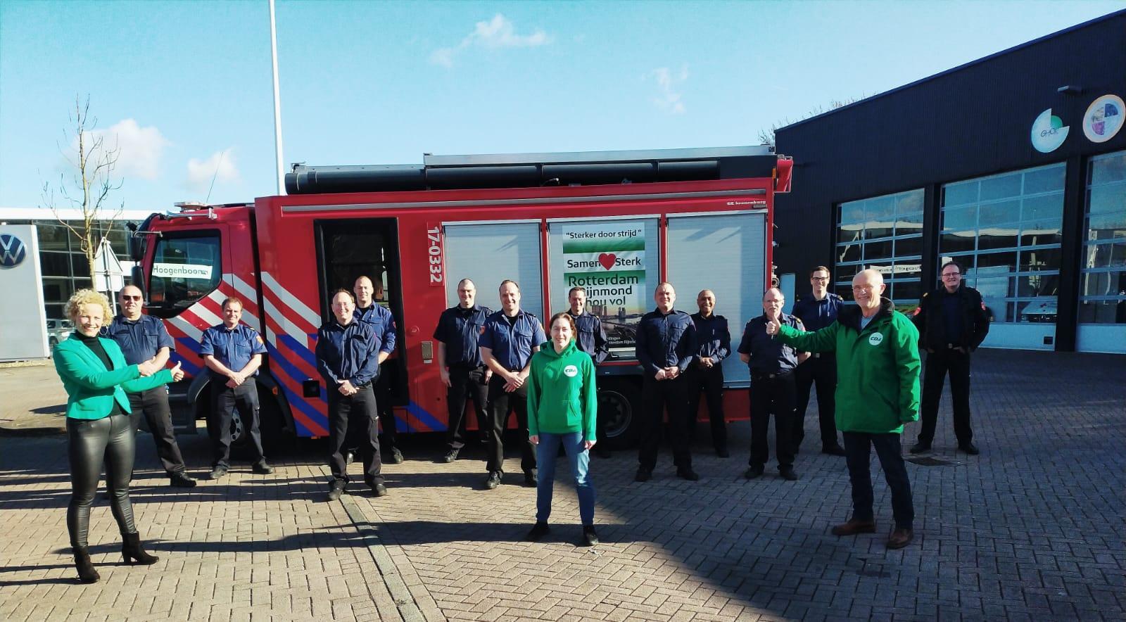CDA Vlaardingen zet vrijwillige brandweerlieden in het zonnetje