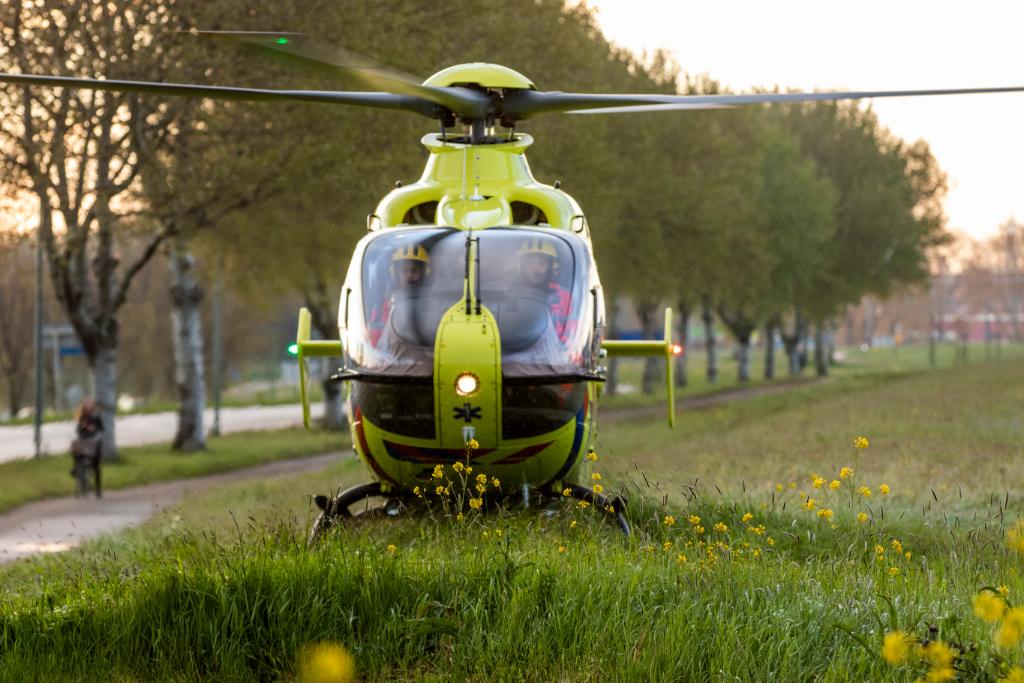 Korte inzet traumahelikopter in Vlaardingen