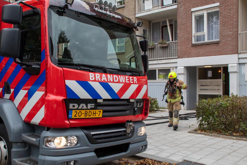 Brand in woning Datheenstraat