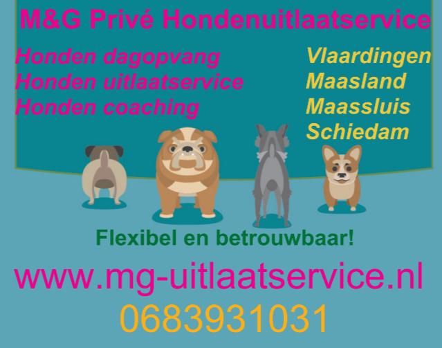 Nog een aantal vrije plekken bij M&G Privé Hondenuitlaatservice