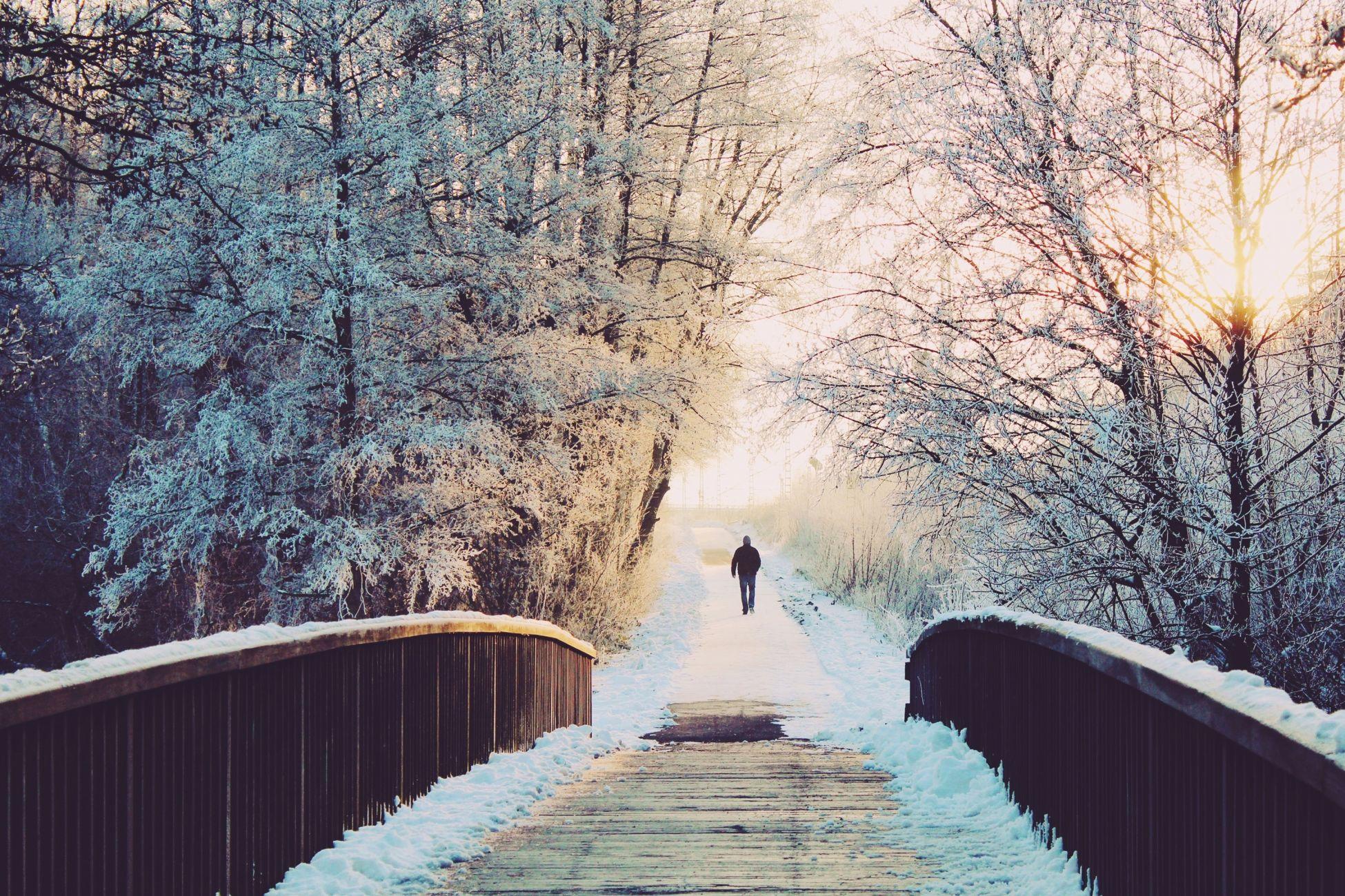 Sneeuw onderweg naar Vlaardingen