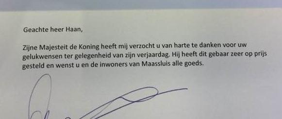Koning wenst inwoners Maassluis 'alle goeds'