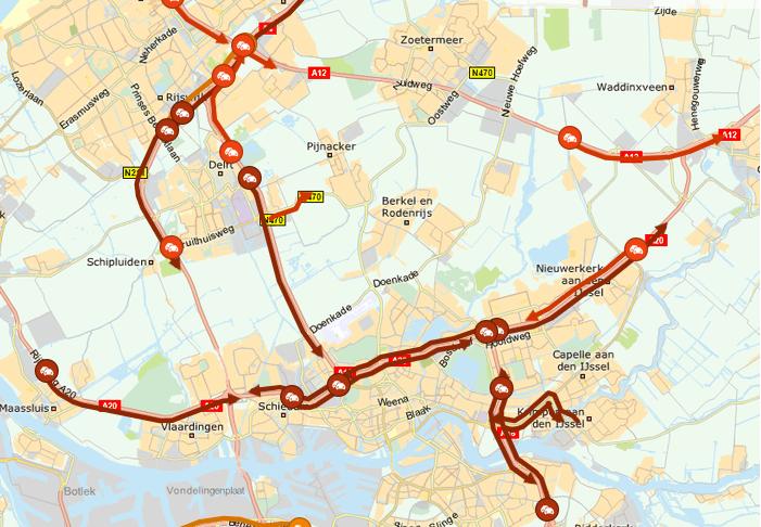 Lange files in regio Rotterdam