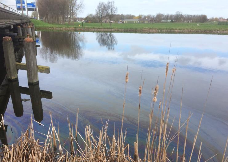 Olie in de Boonervliet Maassluis