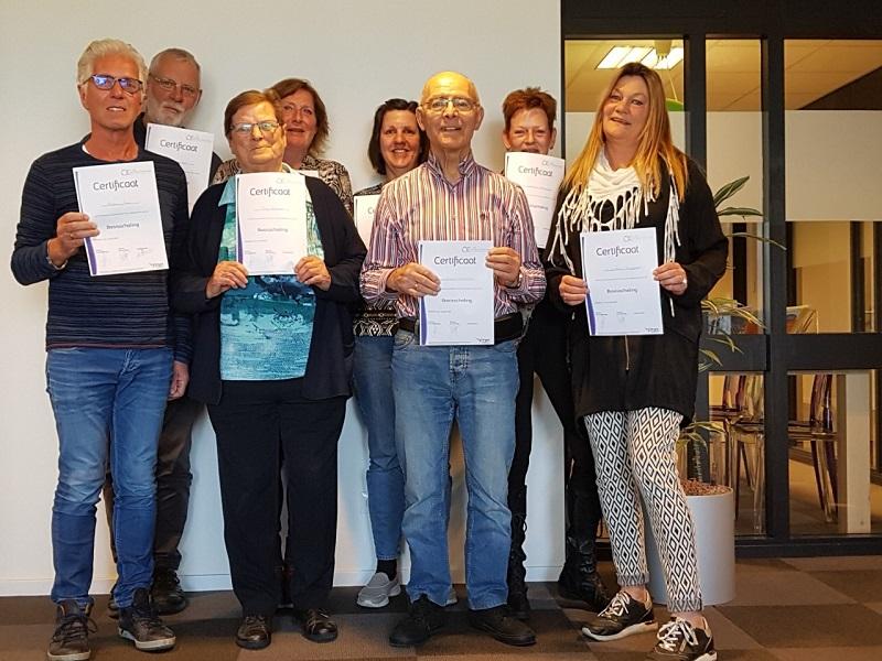 Dertien vrijwilligers geslaagd voor training