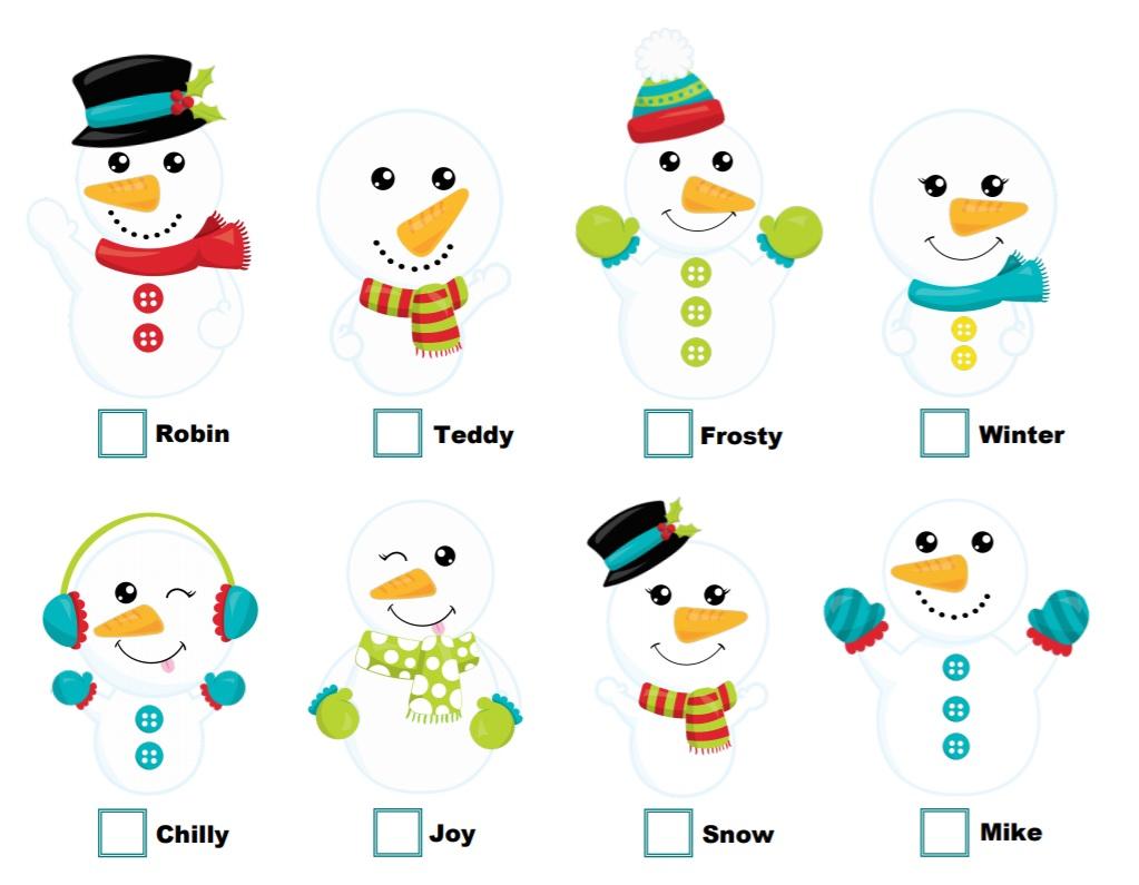 Ga op zoek naar Frosty en zijn vrienden!