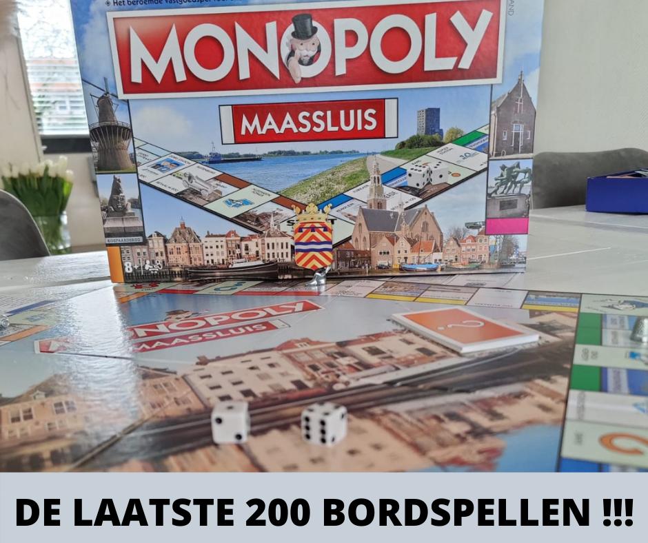 Nog 200 Monopoly Maassluis bordspellen te koop