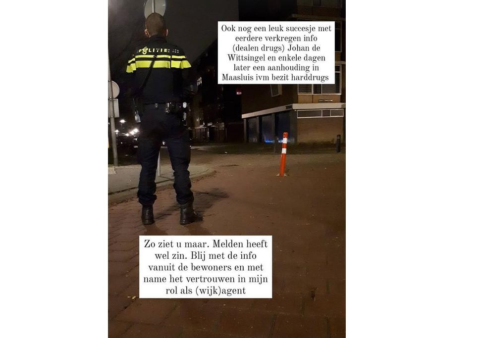 Drugsdealer loopt tegen de lamp door een tip