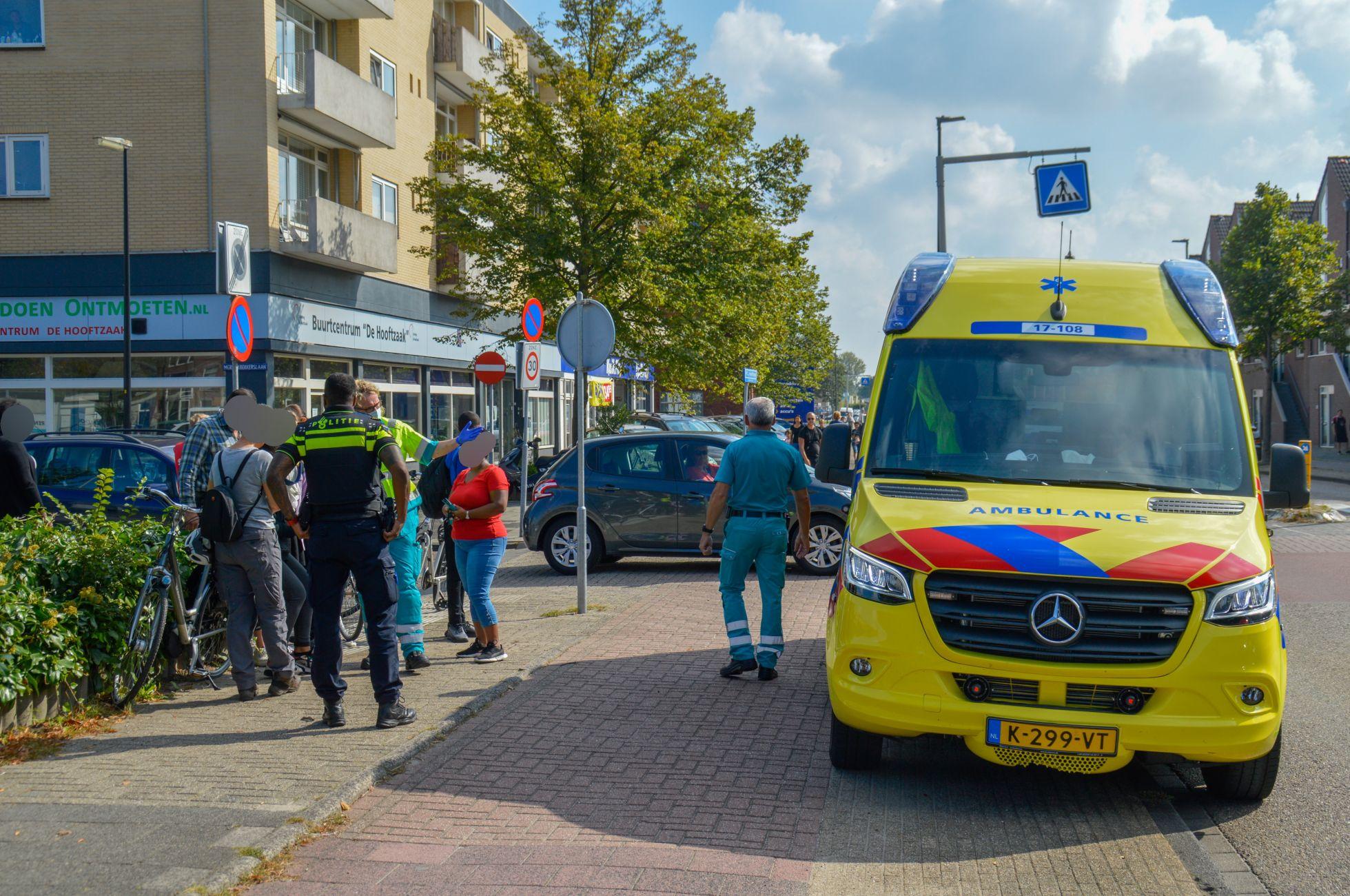 Fietsster aangereden op de P.C. Hooftlaan
