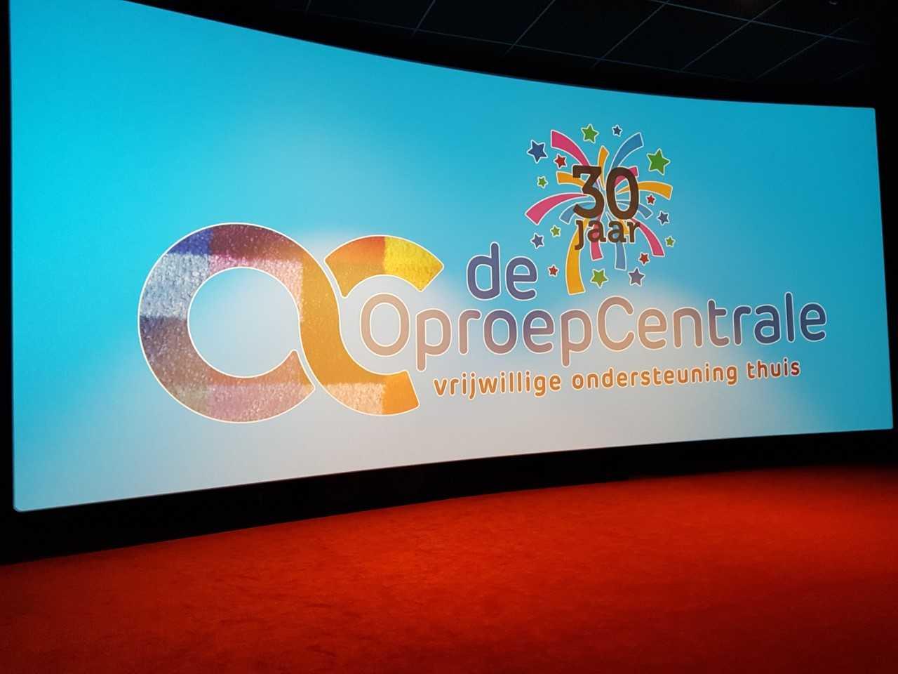 Vrijwilligers OproepCentrale genieten van bioscoopuitje