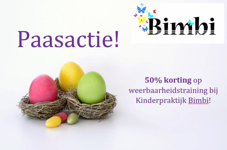Paasactie! 50% korting op weerbaarheidstraining Kinderpraktijk Bimbi