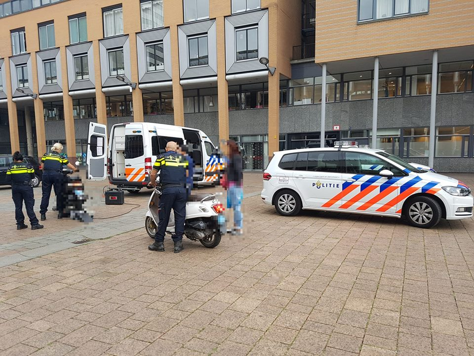 Scootercontrole in het centrum
