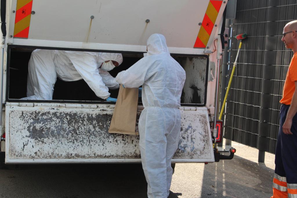 Vuilcontainer onderzocht voor bewijsmateriaal beschietingen
