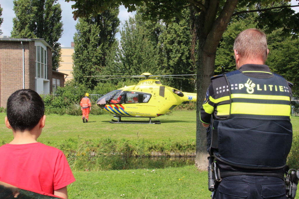 Traumaheli assisteert bij incident