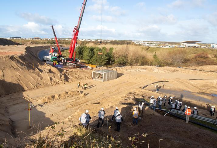 Mammoet draagt steentje bij aan (vlot verloop) Grand Prix Zandvoort