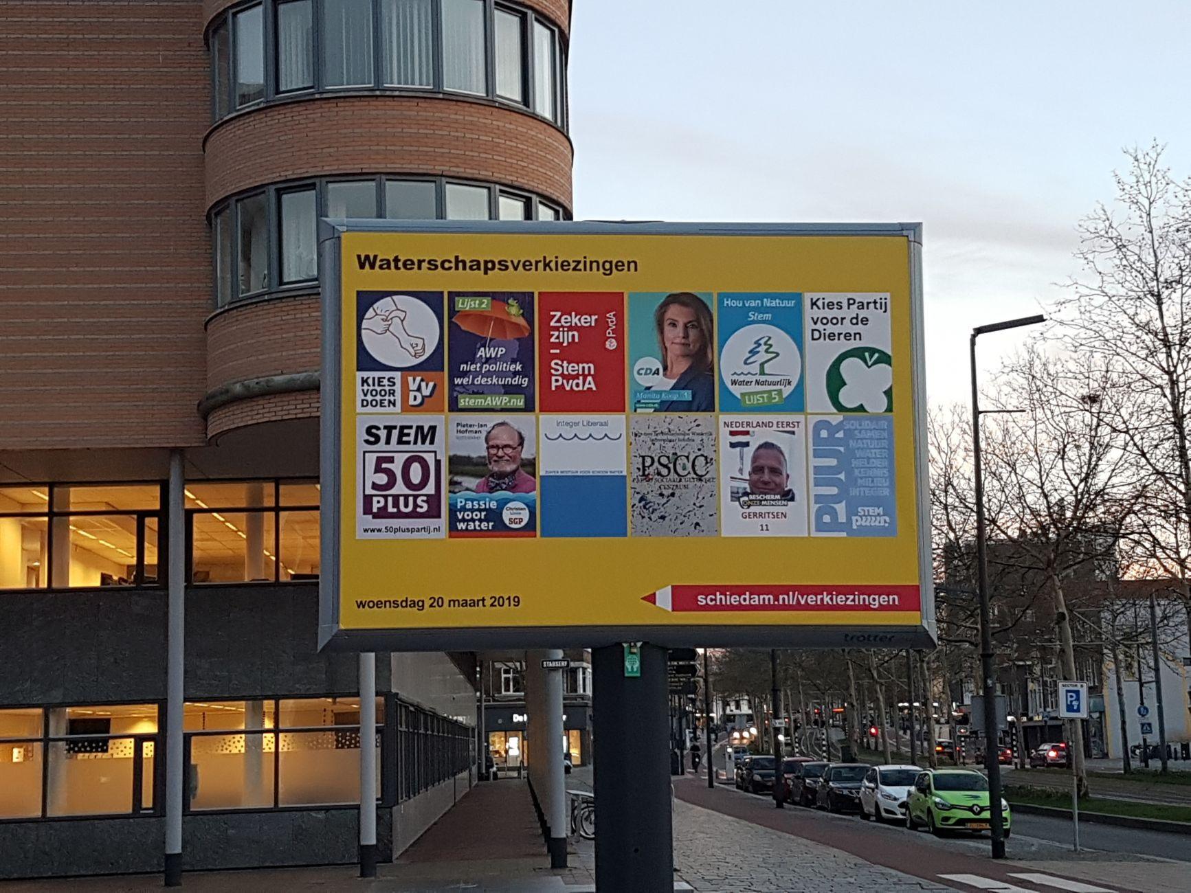 VVD en Partij voor de Dieren winnaars waterschapsverkiezingen