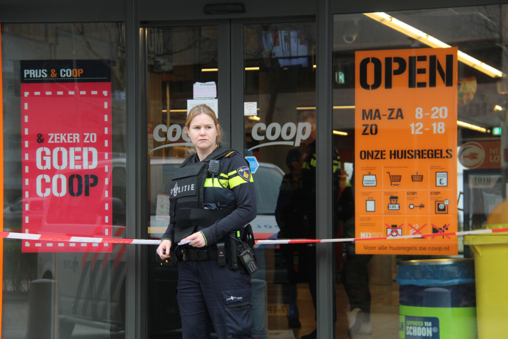 Arrestatie na overval Coop