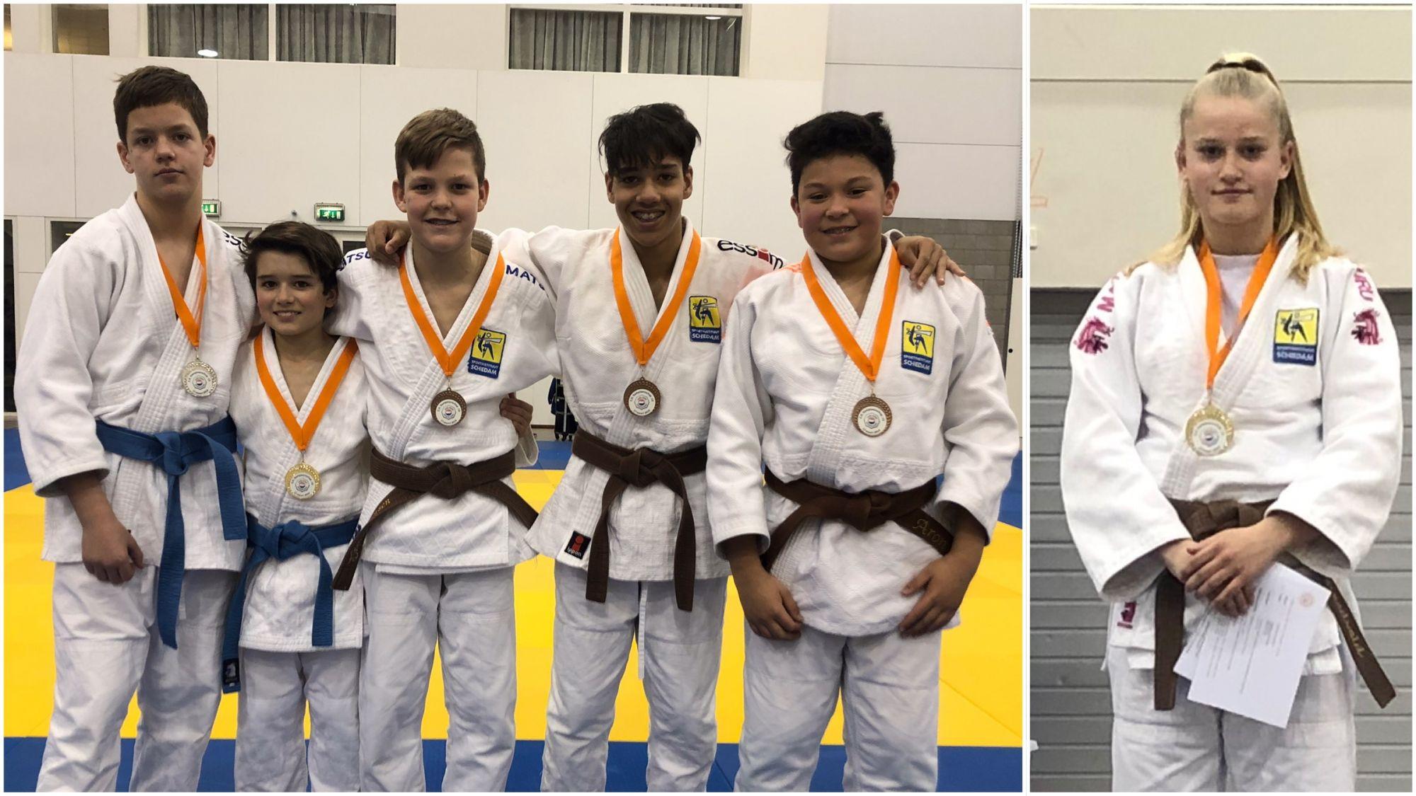 Zes medailles bij ZH-kampioenschap judo