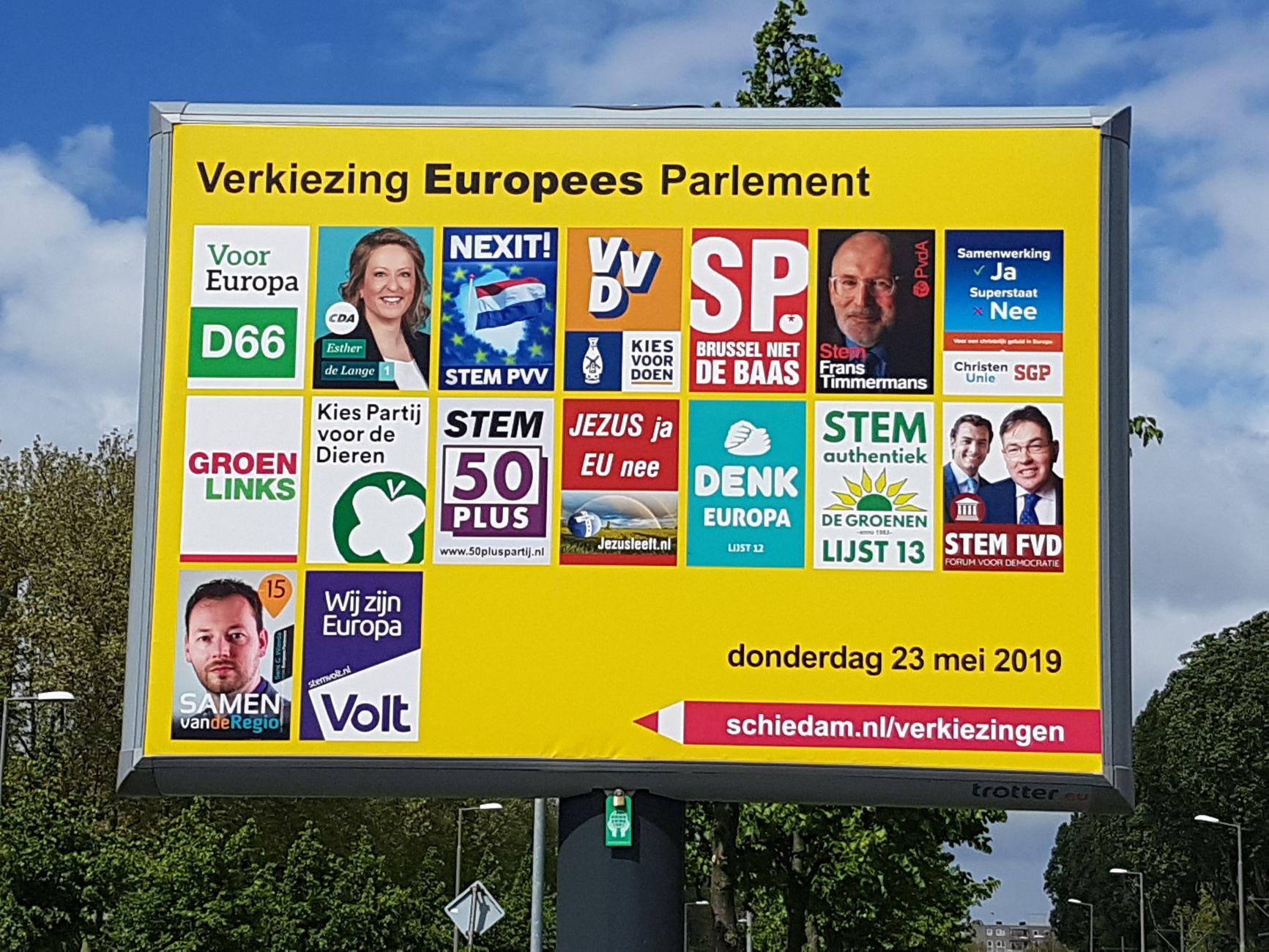 Gevestigde partijen doen het in Schiedam minder dan landelijk