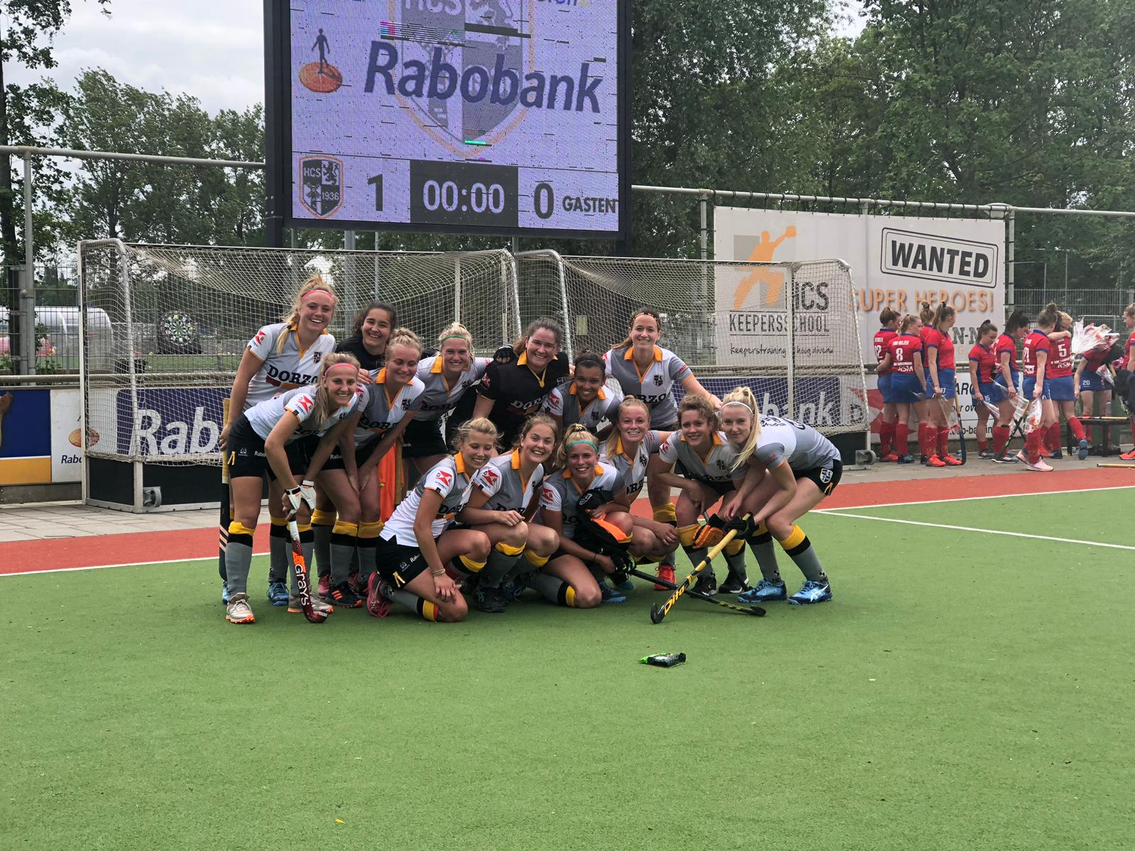 HCS-dames winnen laatste wedstrijd