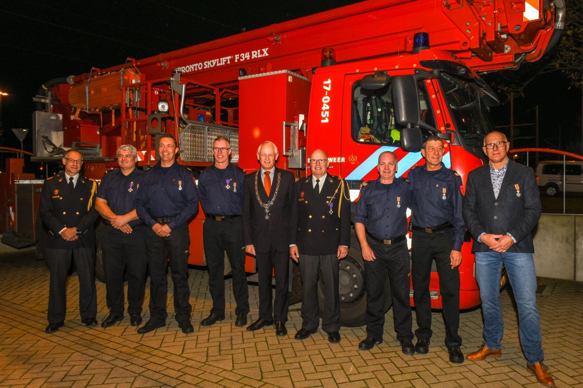 Brandweermannen onderscheiden