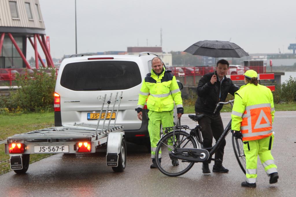 Vervangend vervoer voor fietsers door Beneluxtunnel