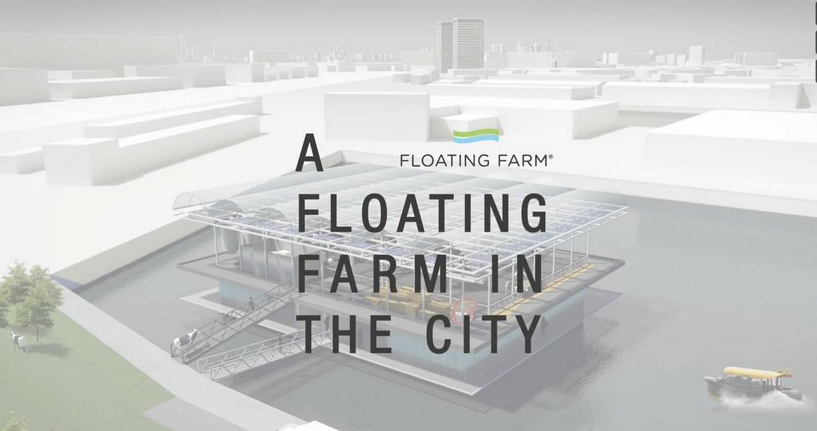 Drijvende boerderij zit zonder boer