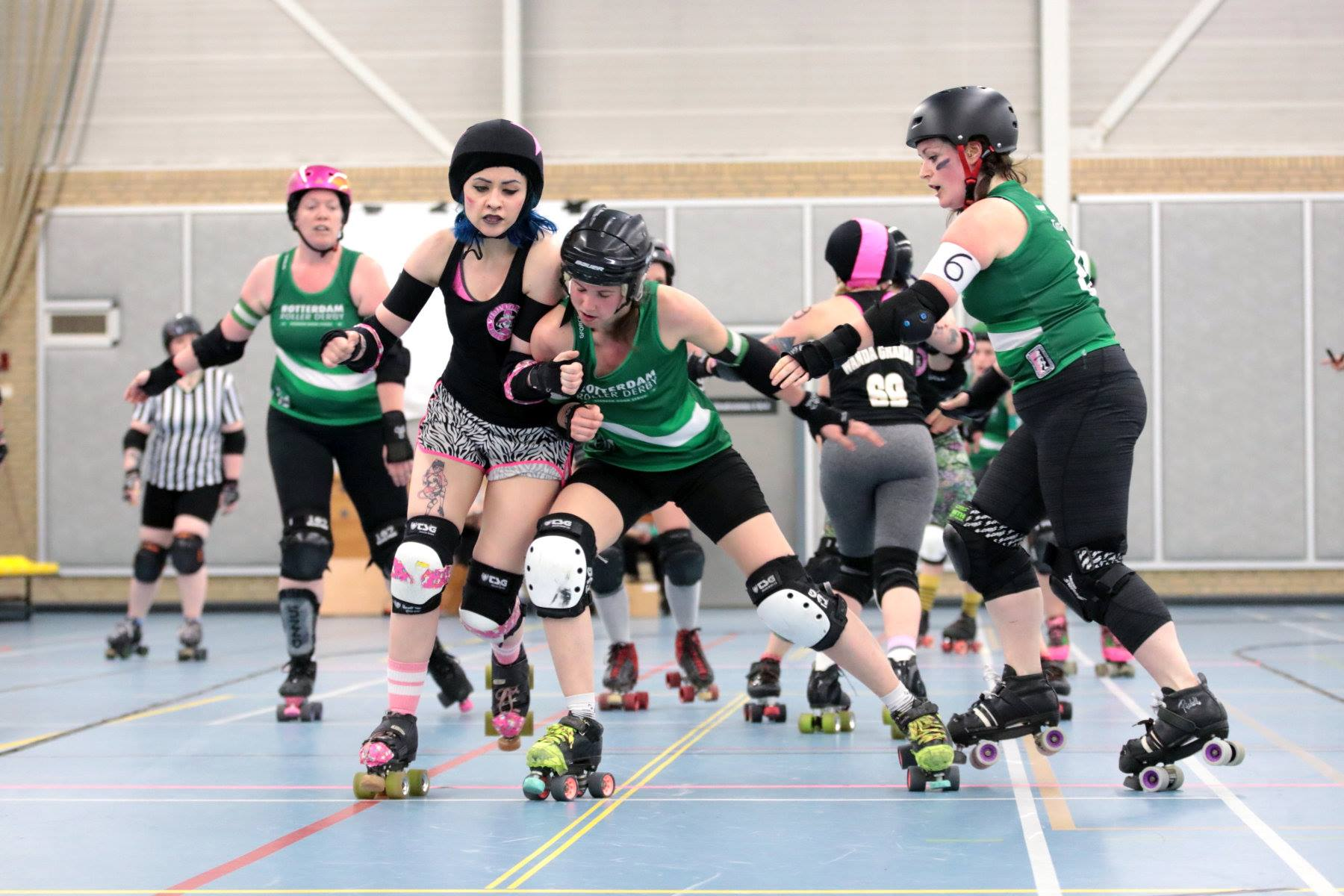 Proeftraining Roller Derby