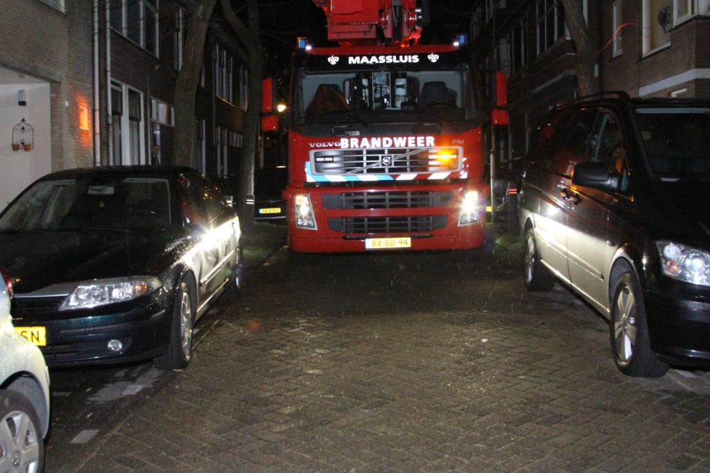 Brandweer komt amper bij brand