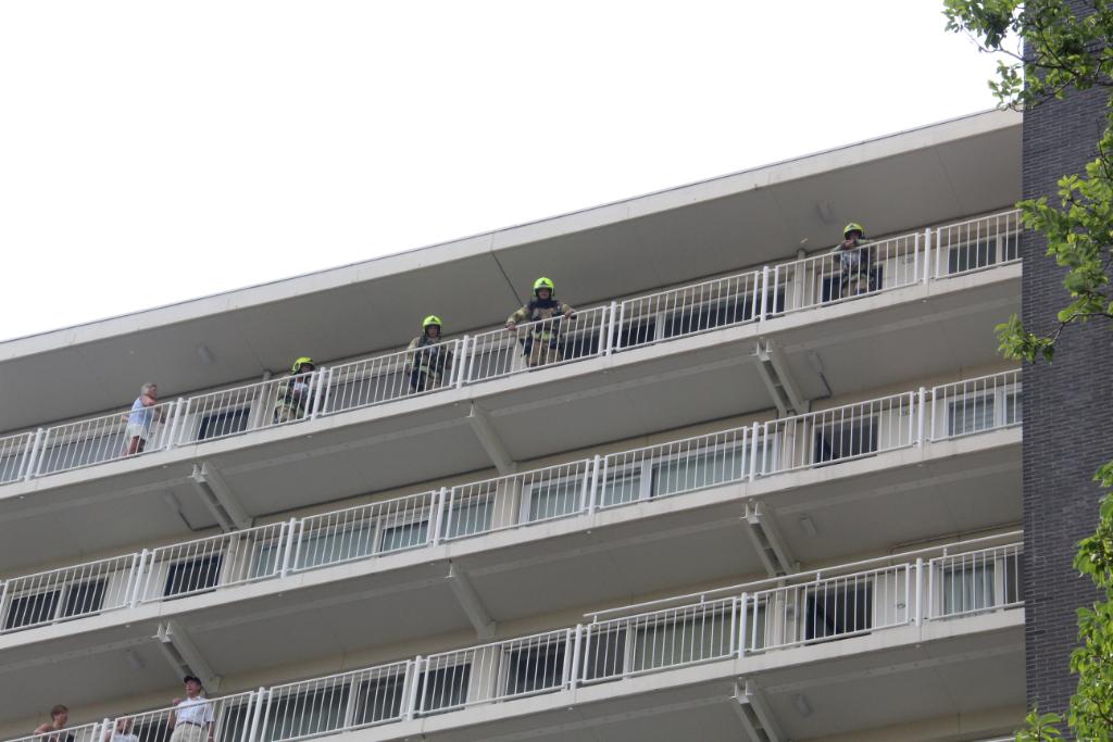 Brand op elfde verdieping