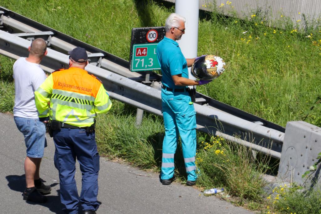 Motorrijder gewond na aanrijding op A4