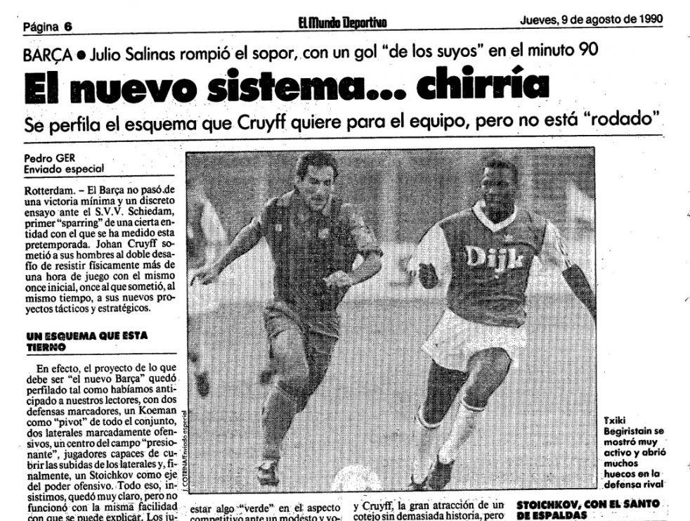 Dertig jaar na dato: SVV - Barcelona