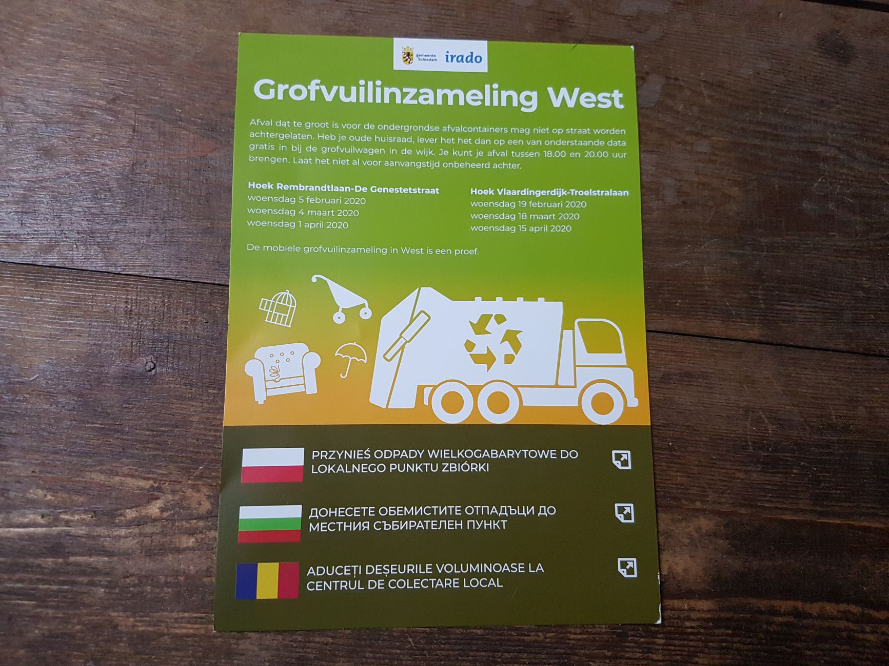 Grofvuilinzameling in west