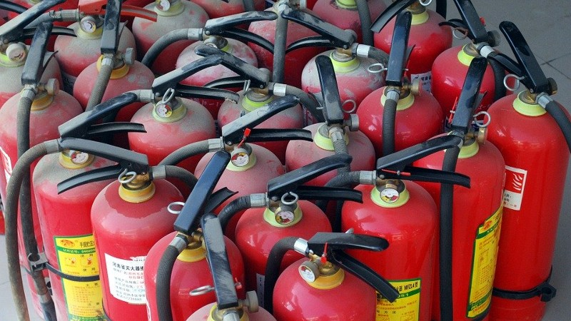 Zestien kilo heroïne onderschept in brandblussers