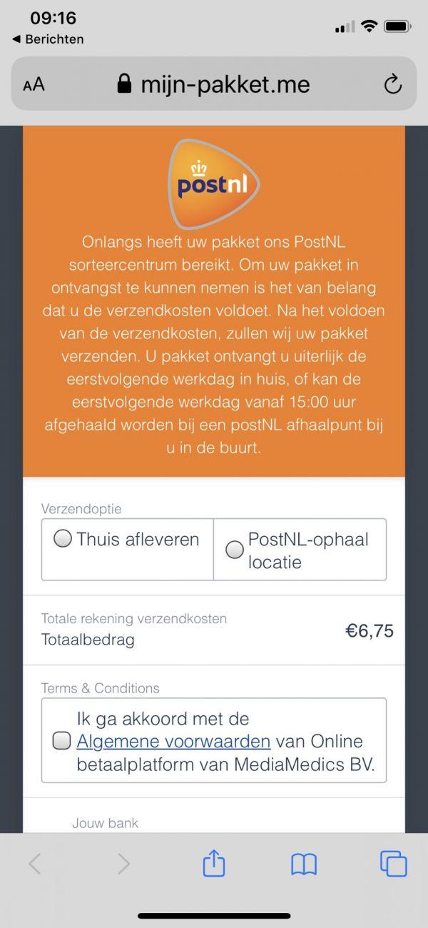 Oplichters doen zich voor als Post NL