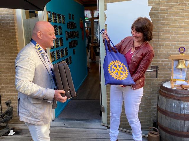 Renk Ruijter nieuwe voorzitter Rotaryclub Schiedam de Veste