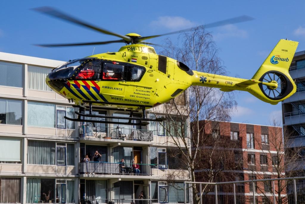 Bekijks voor de traumahelikopter