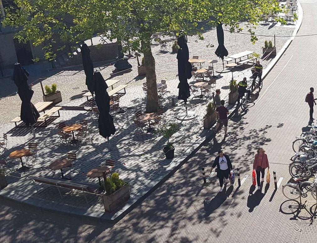 Vanaf maandag 27 uitgebreide terrassen in de stad