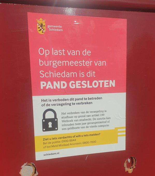 Sekshuis Delflandseweg dicht