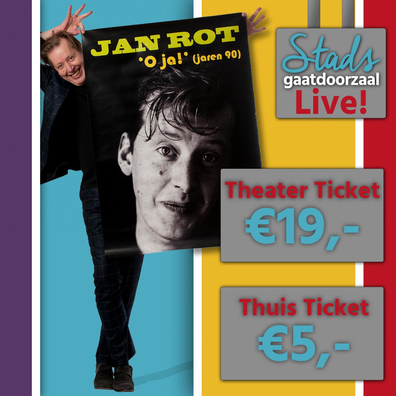 Jan Rot trapt eerste theatervoorstelling in juni af