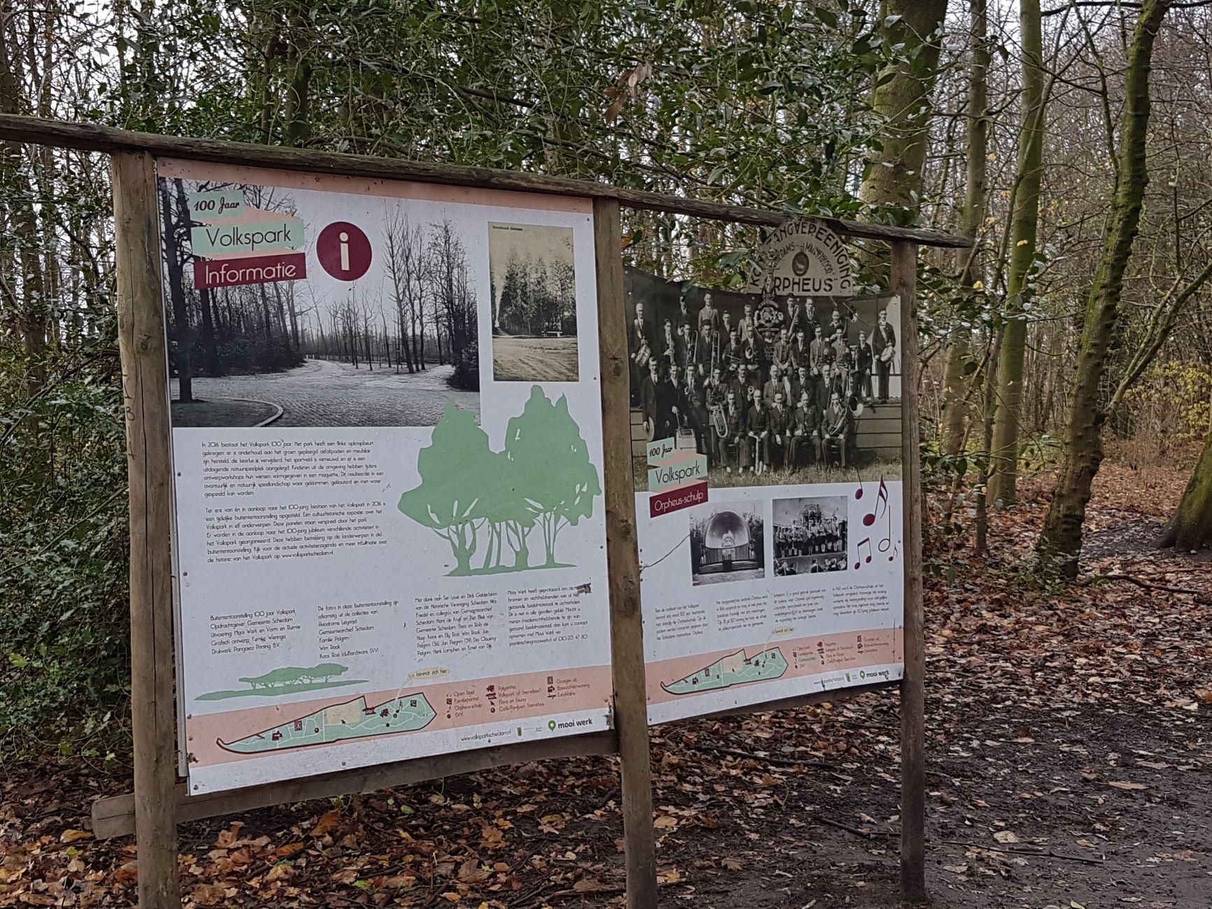 Vandalisme kent geen tijd in Volkspark
