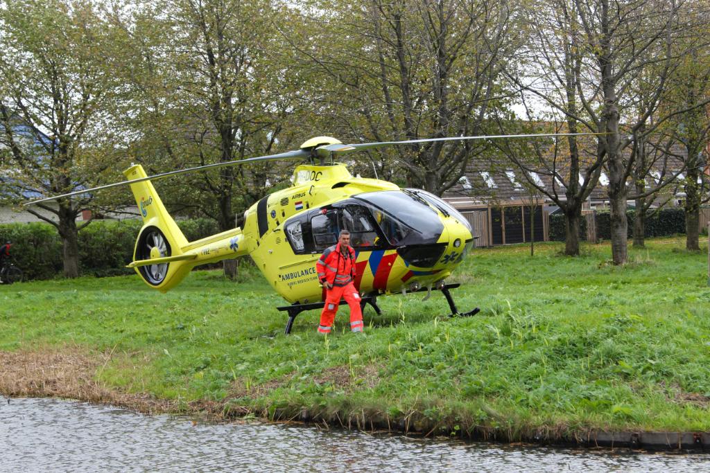 Traumahelikopter ingezet voor assistentie aan hulpdiensten