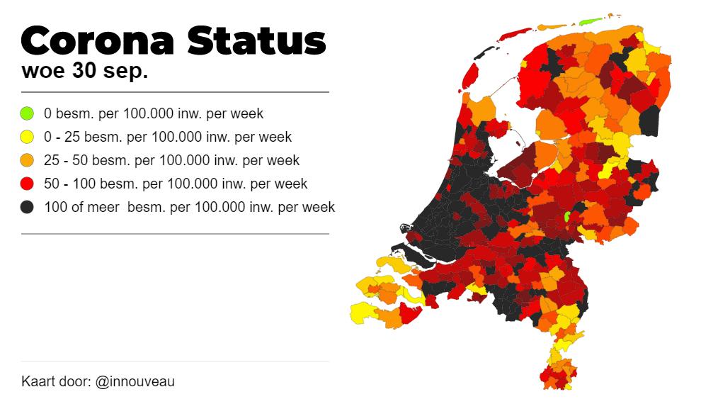 30 nieuwe coronabesmettingen in Schiedam